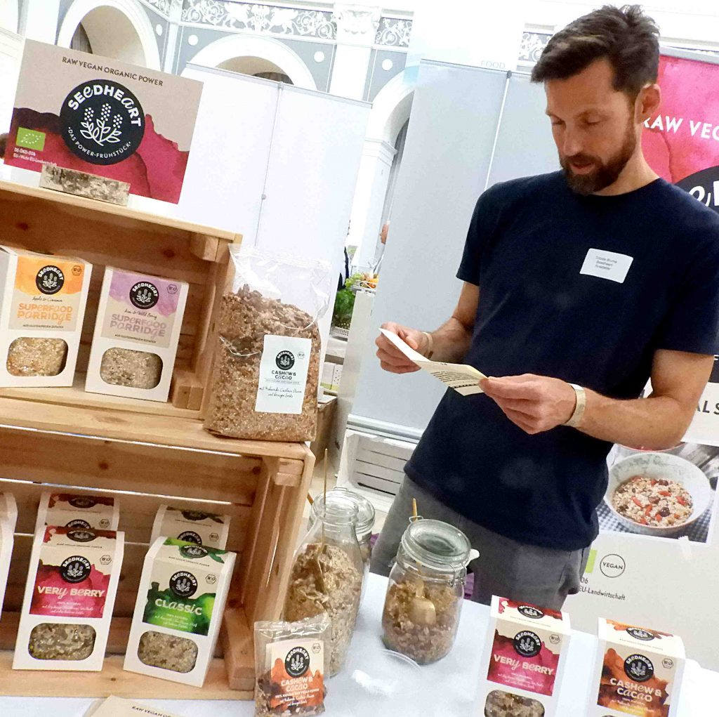 Seedheart Superfood glutenfreies Müsli, Tobias Blume beim Food Innovation Camp
